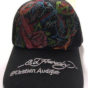 Ed Hardy By Christian Audigier  Rhinestone Cap Hat